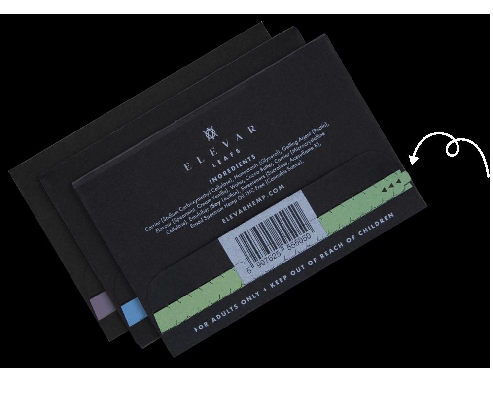 Elevar Hemp CBD Oral Strips Starter Kit Back