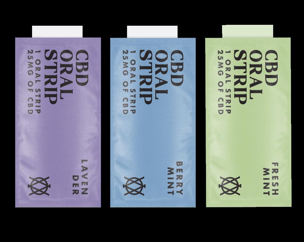 Elevar Hemp CBD Oral Strips 3 Flavours Single Strips