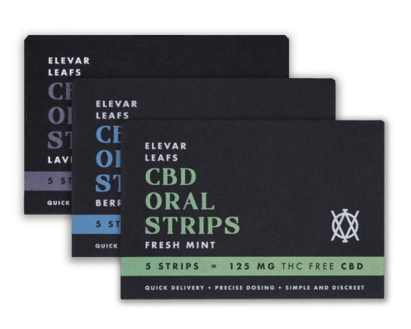 Elevar Hemp CBD Oral Strips Starter Kit Front
