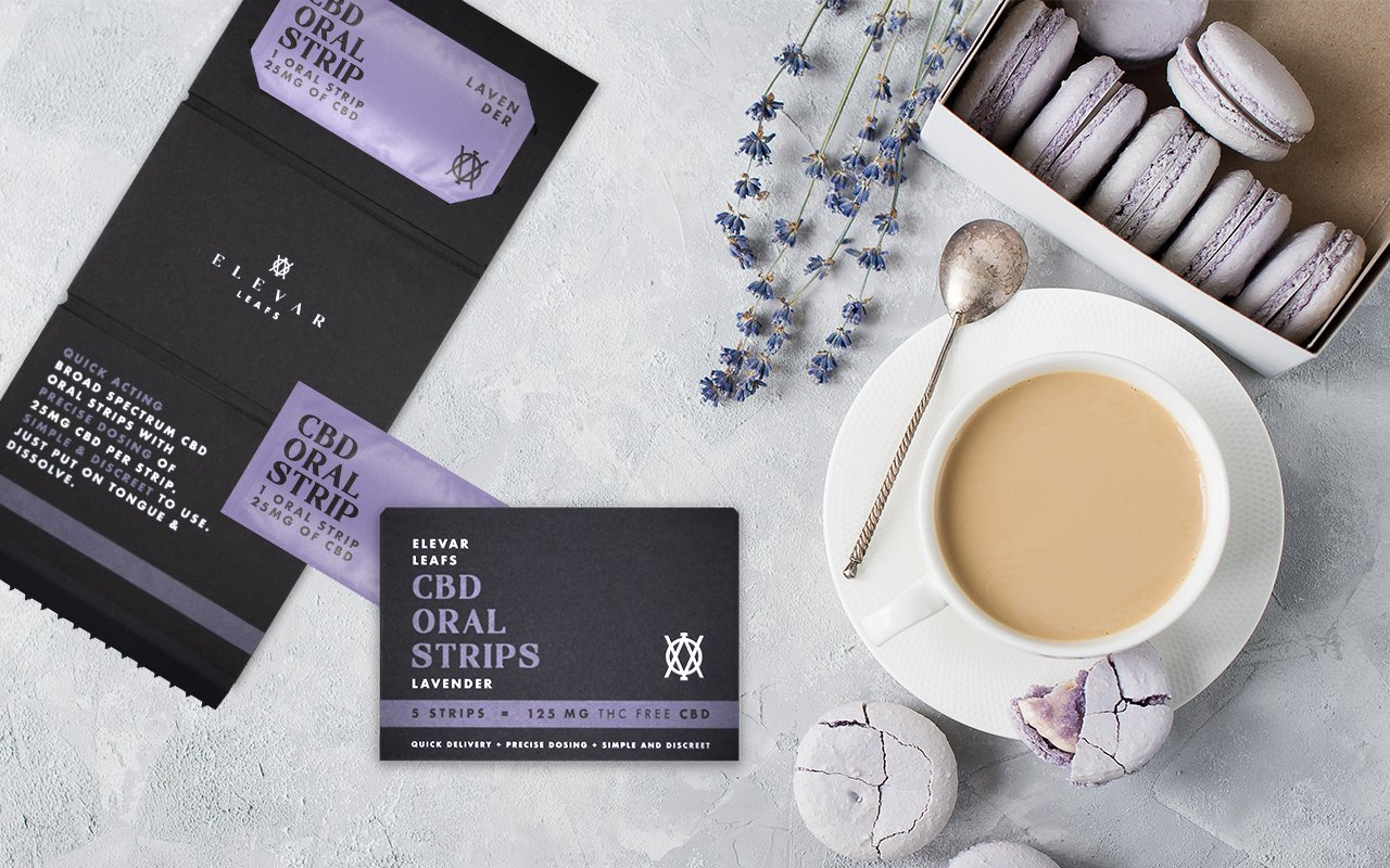 Elevar Hemp CBD - Lavender CBD Oral Strips Afternoon Tea