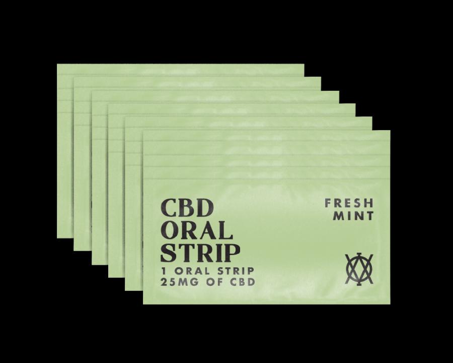 Elevar Hemp CBD Fresh Mint CBD Oral strips 30 strips