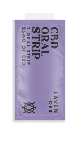Elevar Hemp CBD Lavender CBD Oral Strips Single Strip